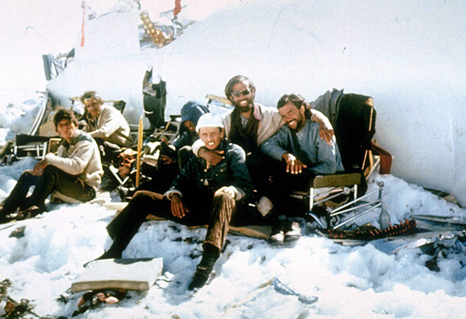 The victims of the plane crash Andes mountains