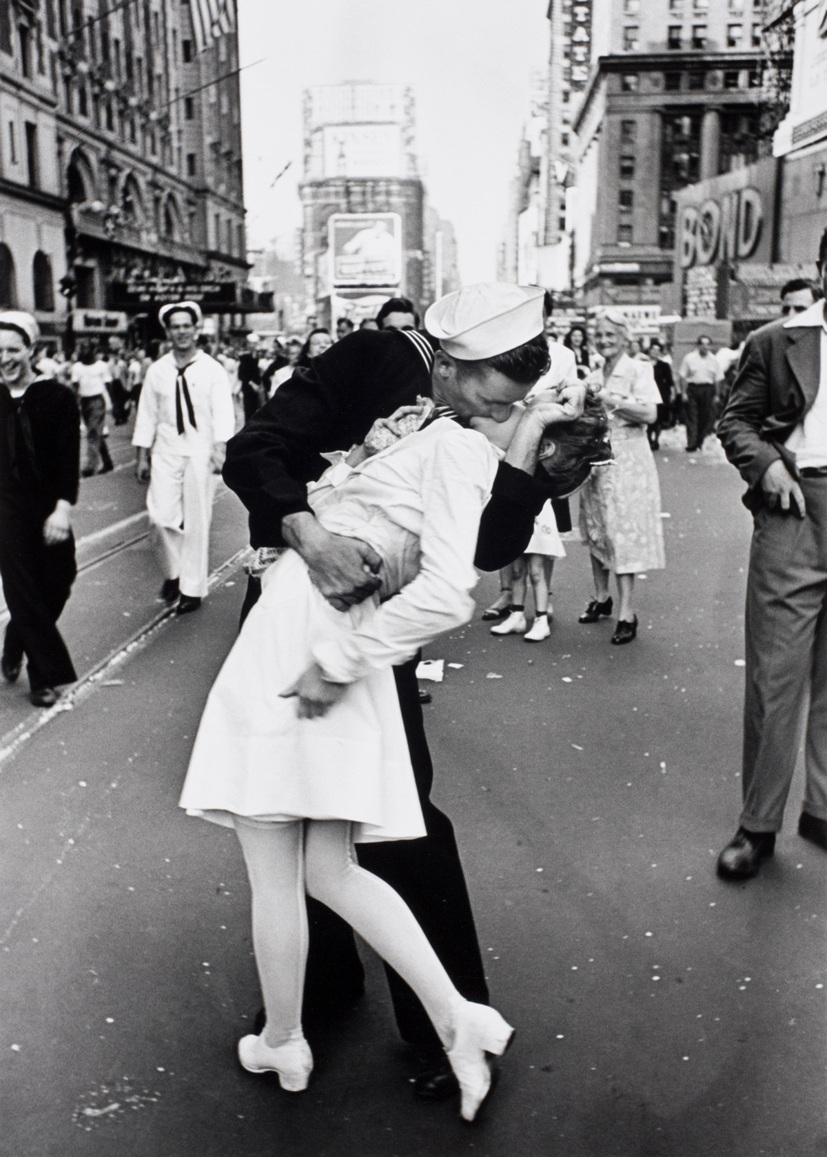 V-J day, 1945 Alfred Eisenstaedt photos