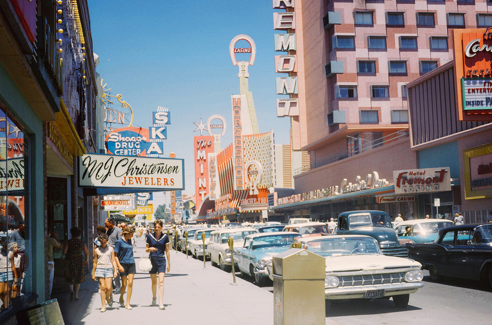 Vintage photos of the Fremont Street, Las Vegas, July 1962.