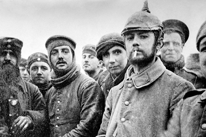 WWI Christmas truce in 1914