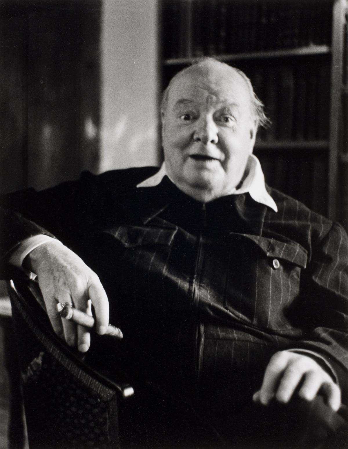 Winston Churchill, Chartwell, Kent, England, 1951.