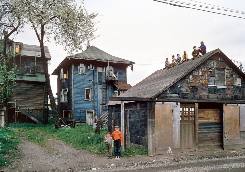 Wooden building in post-war Vancouver
