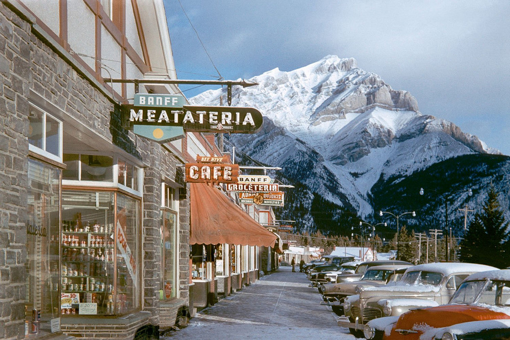 amazing mountain view in the Vancouver, 1950s