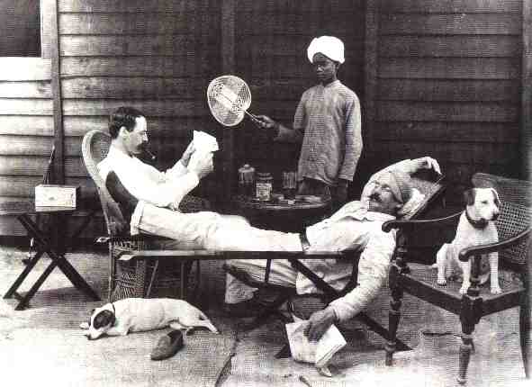 The most common Punkah Wallah was a  deaf boy or man that held a fan in hands.