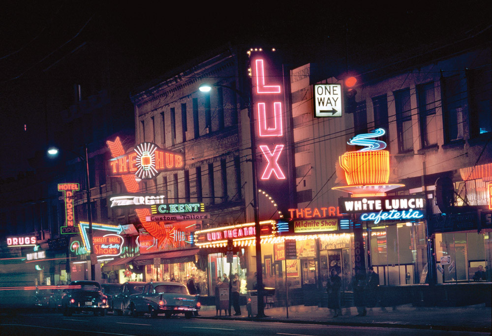 the night life in Vancouver, 1950s