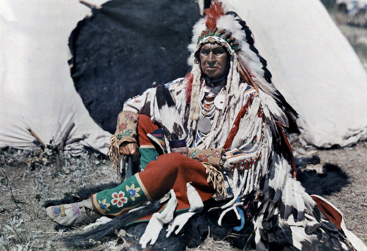 Head of the Crowe Indian Reservation, Montana
