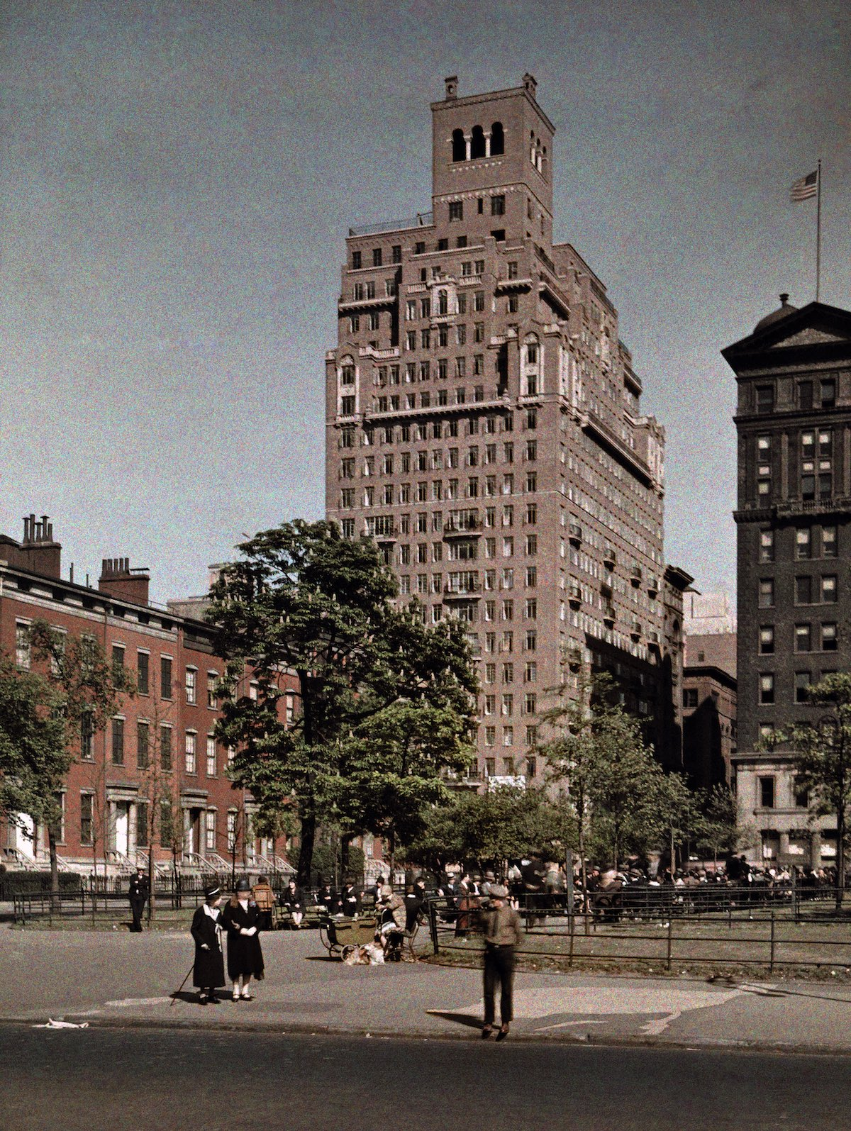 Washington Square in New York.  1920s