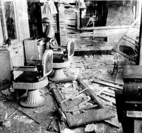 Destroyed barbershop