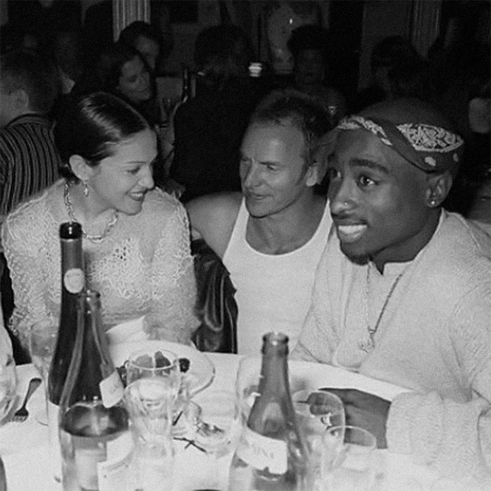 Madonna, Sting, Tupac, 1994. Three people at once, whom everyone recognizes by a nickname from one word