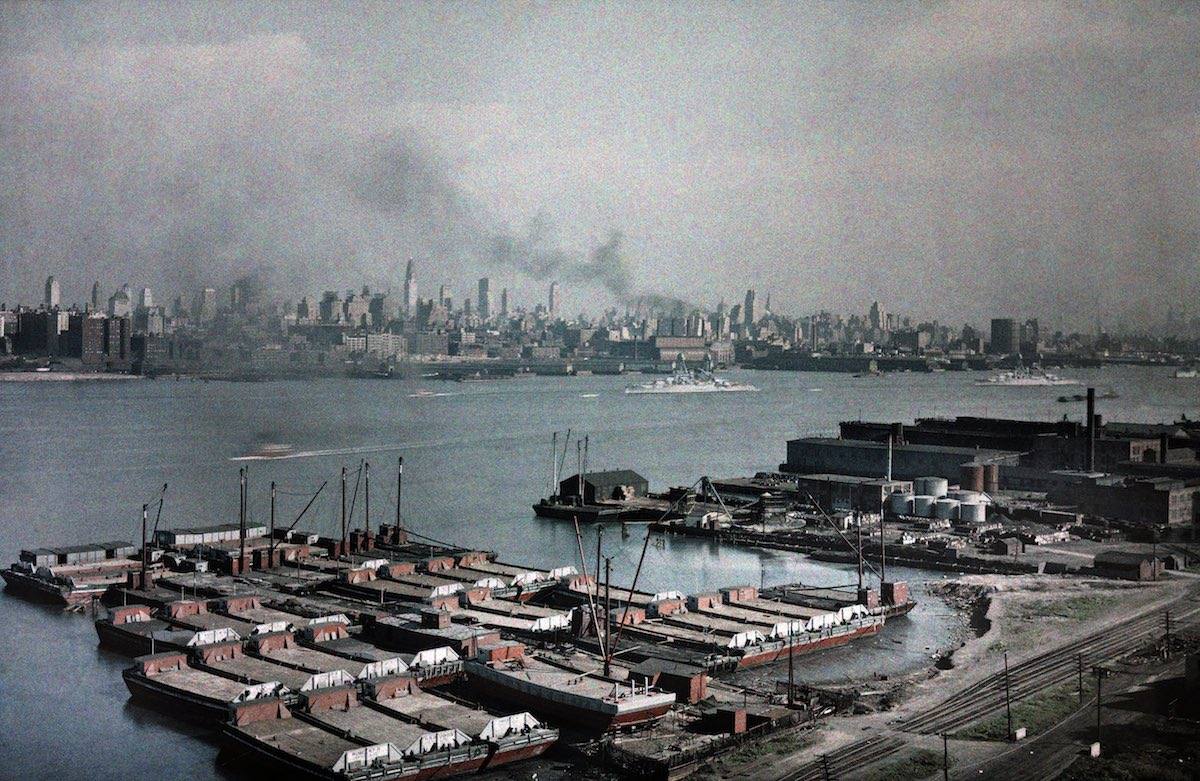 View of the Hudson River in New York.