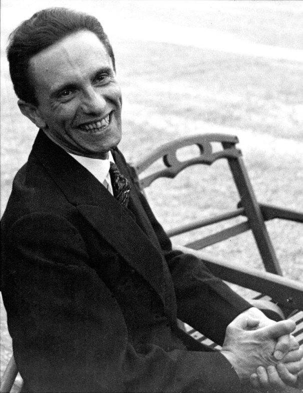 Smiling Joseph Goebbels