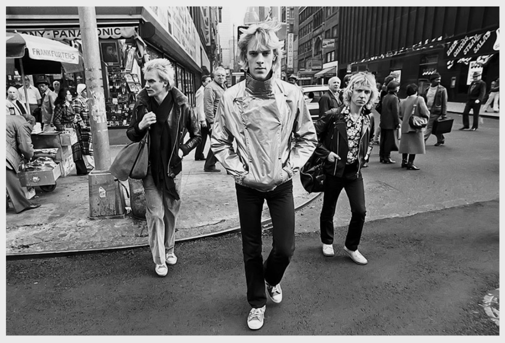 Sting and The Police trio in New York, 1978