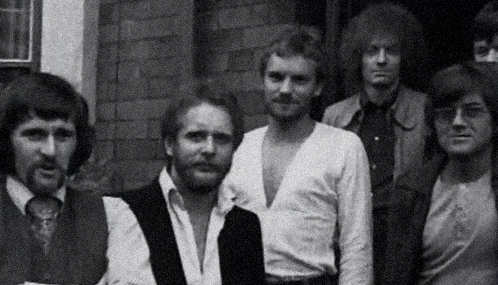 Sting (center) during the game in the Last Exit group, mid-70s