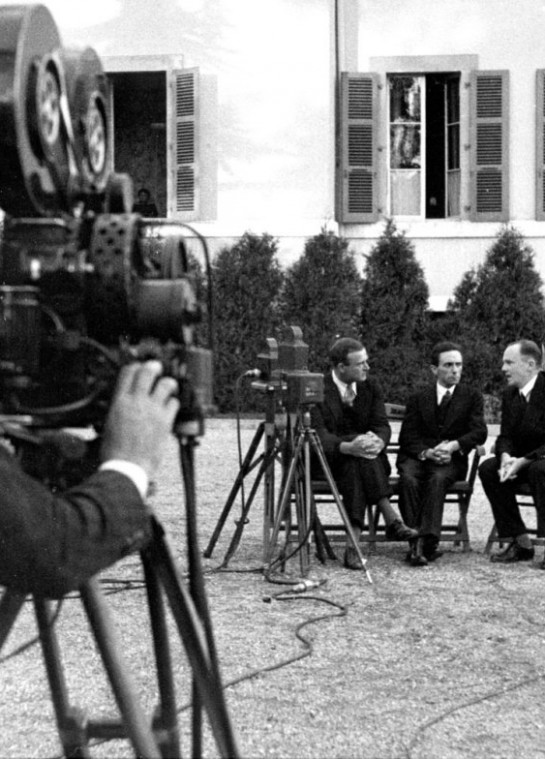The scene during the League of Nations session